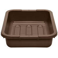 Cambro 1520CBP131 Poly Cambox 20 inch x 15 inch x 5 inch Dark Brown Polyethylene Bus Tub with Ribbed Bottom