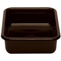 Cambro 1520CBP131 20 inch x 15 inch x 5 inch Dark Brown Polyethylene Plastic Bus Box with Ribbed Bottom