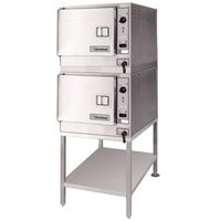 Cleveland (2) 22CET3.1 SteamChef 3 Double Deck 6 Pan Electric Floor Steamer - 240V, 1 Phase, 24 kW
