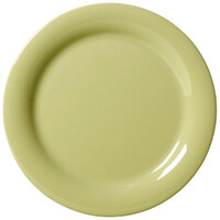 GET NP-10-AV Avocado Diamond Harvest 10 1/2 inch Rolled Edge Plate - 12/Case