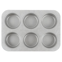 Chicago Metallic 44305 6 Cup Glazed Customizable Oversized Mini-Cake Muffin Pan - 11 1/8 inch x 15 3/4 inch