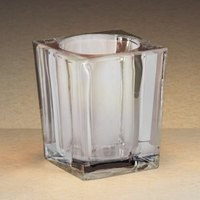 Sterno Products 80236 3 3/4 inch Clear Square Liquid Candle Holder