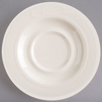 Homer Laughlin 6151000 Lyrica 5 1/2 inch Ivory (American White) China Saucer   - 36/Case