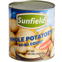 #10 Can 60-80 Count Medium Whole Skinless White Potatoes - 6/Case