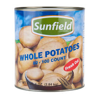 Medium Whole White Potatoes 80-100 Count - (6) #10 Cans / Case