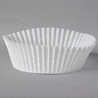 White Fluted Baking Cup 3 inch x 1 1/4 inch - 500/Pack