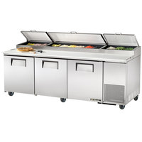 True TPP-93 93 inch Three Door Refrigerated Pizza Prep Table