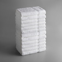 Lavex Lodging Premium 30 inch x 60 inch 100% Ring Spun Cotton Bath Sheet 18 lb. - 12/Pack