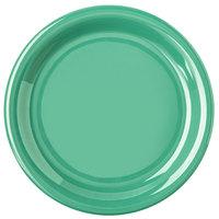 Carlisle 4300809 Durus 6 1/2 inch Green Narrow Rim Melamine Plate - 48/Case