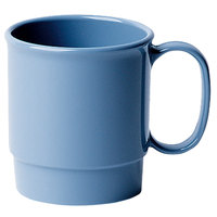 Cambro 75CW401 Camwear 7.5 oz. Slate Blue Polycarbonate Stacking Mug - 48/Case