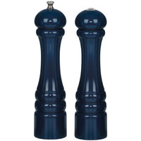 Chef Specialties 10700 Professional Series 10 inch Customizable Autumn Hues Cobalt Blue Pepper Mill and Salt Shaker