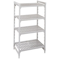 Cambro CPU184264V4480 Camshelving Premium Shelving Unit with 4 Vented Shelves 18 inch x 42 inch x 64 inch