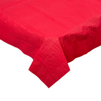 Hoffmaster 220611 54 inch x 108 inch Cellutex Red Tissue / Poly Paper Table Cover - 25/Case