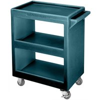 Cambro BC2254S192 Granite Green Three Shelf Service Cart - 28 inch x 16 inch x 32 1/4 inch