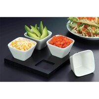 American Metalcraft WCT4 Wood Serving Board for 4 Sauce Cups