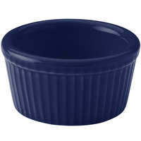Hall China 38345105 Cobalt Blue 4 oz. Colorations Fluted Ramekin - 36/Case