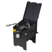 R & V Works FF2R 4 Gallon Liquid Propane Outdoor Cajun Deep Fryer - 90,000 BTU