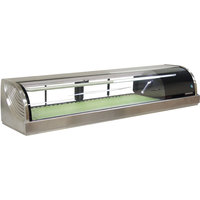 Hoshizaki HNC-150BA-R-S Curved Glass Refrigerated Sushi Display Case 59 inch - Right Side Compressor