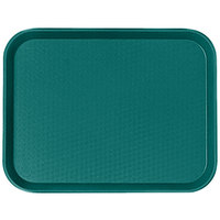 Cambro 1418FF414 14 inch x 18 inch Teal Fast Food Tray - 12/Case