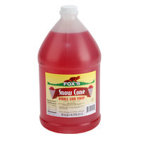 Fox's 1 Gallon Bubble Gum Snow Cone Syrup   - 4/Case