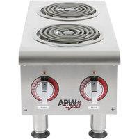 APW Wyott EHPi Dual Burner Countertop Electric Range - 208V