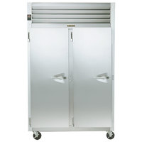 Traulsen G24313 Solid Door 2 Section Hot Food Holding Cabinet with Left Hinged Doors