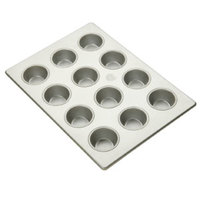 12 Cup Aluminized Steel Cupcake / Muffin Pan 3.8 oz. 10 inch X 14 inch