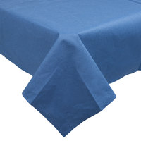 Hoffmaster 210437 82 inch x 82 inch Linen-Like Navy Blue Table Cover - 12/Case