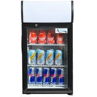 Avantco SC-52 Black Countertop Display Refrigerator with Swing Door