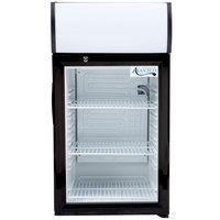 Avantco SC-52 Black Countertop Display Refrigerator with Swing Door