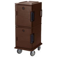 Cambro UPC800SP131 Dark Brown Camcart Ultra Pan Carrier - Front Load Tamper Resistant