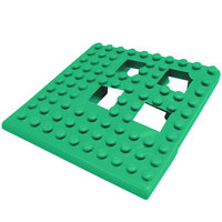 Cactus Mat 2554-GC Dri-Dek 2 inch x 2 inch Kelly Green Vinyl Interlocking Drainage Floor Tile Corner Piece - 9/16 inch Thick