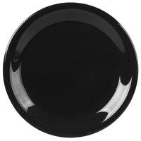 Carlisle 3300603 Sierrus 7 1/4 inch Black Narrow Rim Melamine Salad Plate - 48/Case