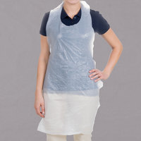 Choice 42 inch x 24 inch .50 Mil Disposable Poly Apron - 100/Box