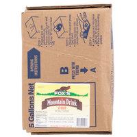 Fox's Bag In Box Mt. Bev Beverage / Soda Syrup - 5 Gallon