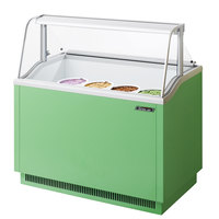 Turbo Air TIDC-47G 47 inch Green Low Curved Glass Ice Cream Dipping Cabinet