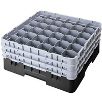 Cambro 36S1114110 Black Camrack Customizable 36 Compartment 11 3/4 inch Glass Rack