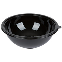 Fineline 5160-BK Super Bowl 160 oz. Black PET Plastic Bowl - 5/Pack