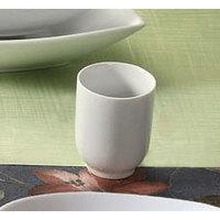CAC SHA-17 Sushia 8 oz. Super White Porcelain Tea / Sake Cup - 36/Case