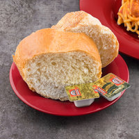 Carlisle 3302005 Sierrus 5 1/2 inch Red Wide Rim Melamine Bread and Butter Plate - 48/Case