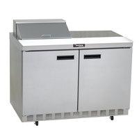 Delfield 4448N-8 48 inch 2 Door Refrigerated Sandwich Prep Table