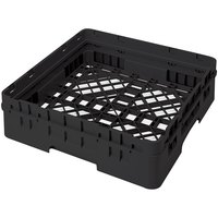 Cambro BR414110 Black Camrack Customizable Full Size Open Base Rack with 1 Extender