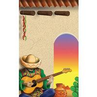 8 1/2 inch x 11 inch Menu Paper - Southwest Themed Mariachi Design Cover - 100/Pack