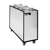 APW Wyott Lowerator HML3-9A/12A/12A Mobile Enclosed Adjustable Heated Three Tube Dish Dispenser for 3 1/2 inch to 12 inch Dishes - 120V