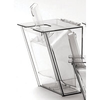 Cal Mil 793 Wall Mount Scoop Holder with Scoop and Drip Tray 2 qt.
