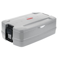 Rubbermaid FG940600PLAT CaterMax 29 1/2 inch x 19 inch x 10 5/8 inch Platinum Top Loading Insulated Single Food Pan Carrier