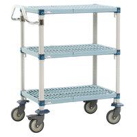 Metro MQUC2436G-25 MetroMax Q Utility Cart with 5 inch Polyurethane  24 inch x 36 inch