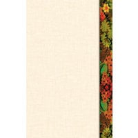 8 1/2 inch x 11 inch Menu Paper Right Insert - Floral Border - 100/Pack