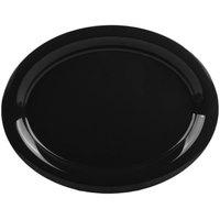 GET OP-135-BK 13 1/2 inch x 10 1/4 inch Black Elegance Oval Black Platter - 12/Case