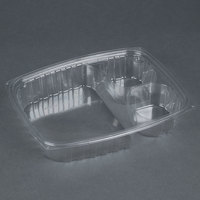 Dart Solo C30DE3R ClearPac 32 oz. Three Compartment Clear Plastic Container - 252/Case